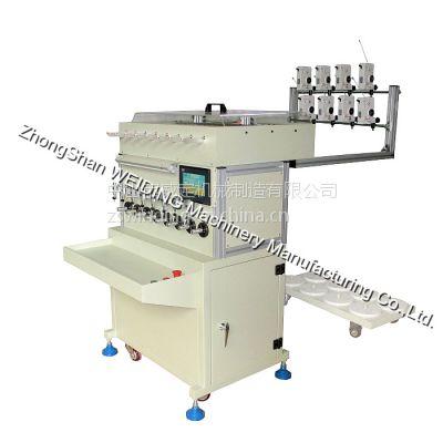 八轴绕线绞线一体机、细线线头自动多股绞合、低频变压器自动绕线机