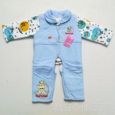 新款婴儿套装 纯棉童棉服 婴幼儿保暖套装 宝宝棉衣两件套 批发