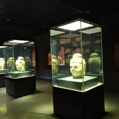 博物馆独立柜订做/瓷器展柜效果图/单个独立陶瓷展柜设计