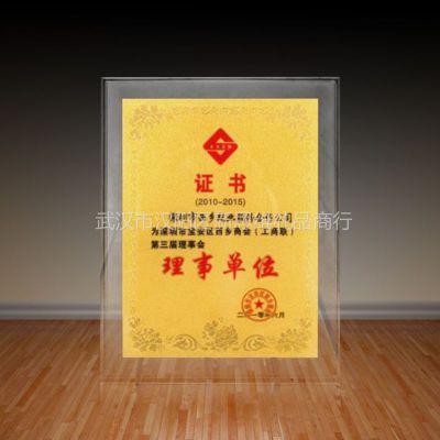 供应武汉商会换届奖杯奖牌制作,专业牌匾,纪念品定制厂家