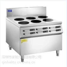 龙岗六头电磁煲仔炉价格亲和力牌 QHL-SBL3.5KW-68台达风扇寿命是普通风扇的100倍