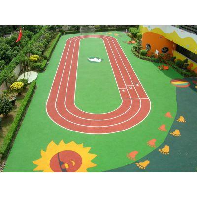 供应富阳幼儿园彩色操场-塑胶地面