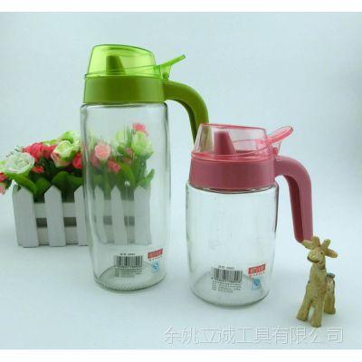 厂家直销彩色的玻璃油壶  玻璃油壶 高品质刻度控量