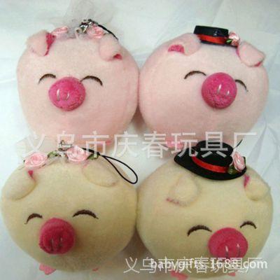 毛绒玩具毛绒动物手机挂件 卡通佩佩猪公仔 情人节礼品促销