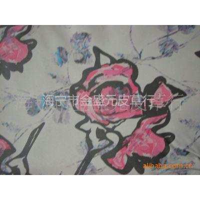 供应优质印花羊皮革 绵羊皮服装革
