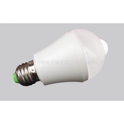 供应人体红外感应LED球泡灯-声控感应灯泡厂家大量批发