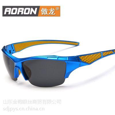厂家直销2016新款偏太阳镜批发运动款 骑行眼镜男士墨镜