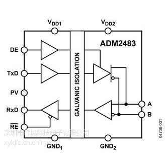 ADM2483BRWZ-REEL【ADI专营】原装供应假一罚十 其他IC 收发器