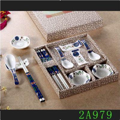 供应2A979天然竹制筷子套装  颜色可供选择  彩盒包装  精美礼品