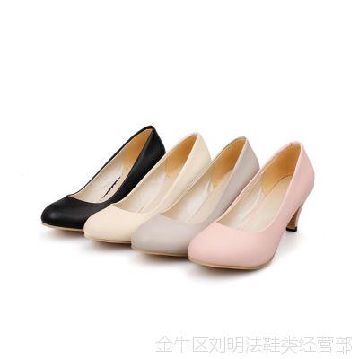 大码高跟鞋 40-43粗跟韩国欧美公主圆头小码鞋31女鞋32日系33单鞋