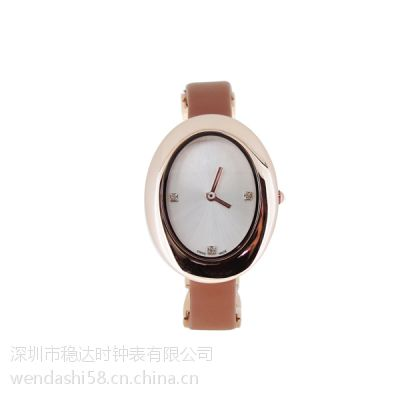 深圳钟表厂家供应女士时尚礼品不锈钢石英手表【稳达时钟表】