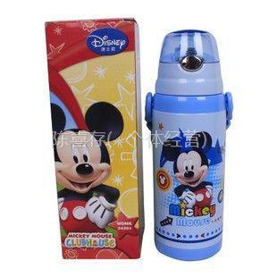 供应引玉-正品迪士尼保温杯儿童水壶软吸管杯学生背带水杯子3420