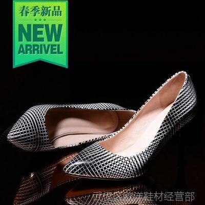 2015新款女单鞋春季漆皮工作鞋尖头性感夜店女鞋职业高跟鞋T台鞋