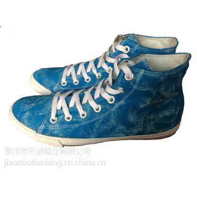 批发代理新款休闲时尚高邦系带男鞋户外运动防滑耐磨学生硫化帆布鞋