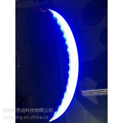 深圳工厂承接量大白色LED背光电表用背光板黑白屏背光源背光板导光反