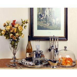 供应雅典娜家居 美式餐厅餐桌装饰品 合金餐具摆饰 进口装饰品 批发