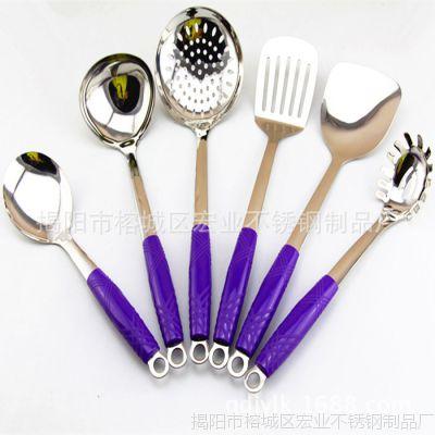 厂家直销不锈钢漏勺  烹饪不锈钢厨房套餐 汤漏勺漏瓢 大漏勺