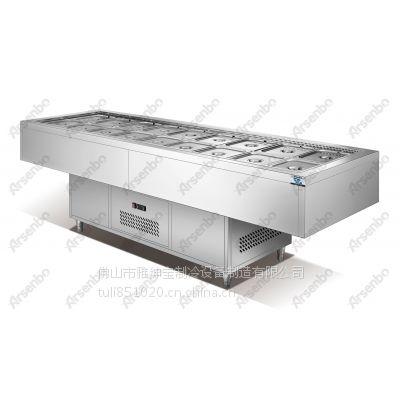 雅绅宝商用保鲜柜 SW18不锈钢三文治冷藏柜 食材保鲜展示柜