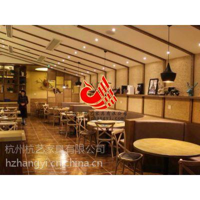 酒店餐饮部桌椅、时尚西餐厅桦木餐桌椅、杭州酒店中式餐厅家具