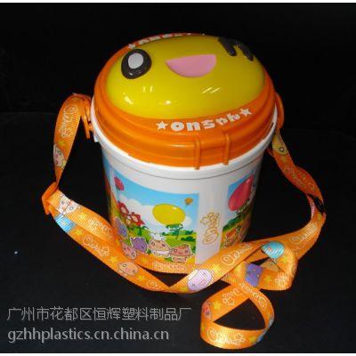 厂家供应爆米花桶 食品包装桶 供应游乐园 影院 带肩带 精美印刷 批发定制