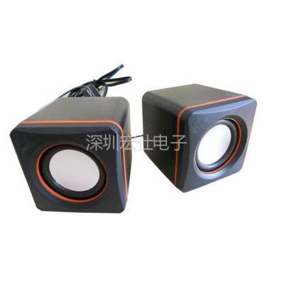 供应厂家促销 特价 小方块 迷你音箱 对箱 小音箱 礼品电脑