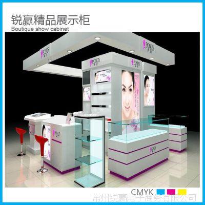 厂家直销展示柜 饰品 中岛展柜 定做精美亚克力 化妆品展柜