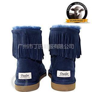 供应雪地靴厂家批发澳洲羊皮毛一体雪地靴 中筒雪地靴流苏款