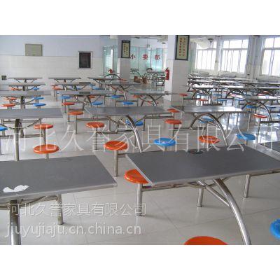 河南食堂不锈钢餐桌椅价格,河南餐桌椅生产厂家,连体餐桌椅尺寸