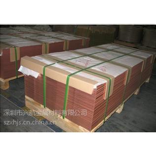 温州国标T2紫铜板 高精T1纯铜板市场