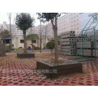 造型大方易被接受郑州天艺批发120*120*40cm仿木树围合金塑料模具