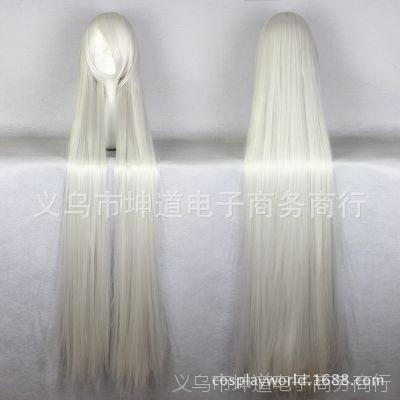 cos假发 高温丝150cm银白色古装万用长直发 501c