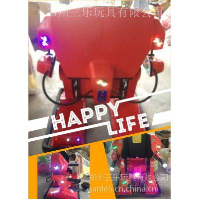 山东青岛气模金刚侠机器人电瓶车自动计时无死角旋转定做
