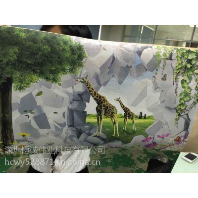 PU软包制品数码印花机|PU皮革彩印机|UV平板万能打印机深圳恒诚伟业厂家