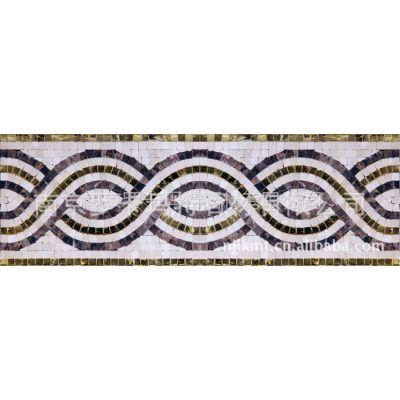 供应 南京罗卡玛特 中式 欧式花纹 马赛克腰线 艺术拼花 lky-013图片
