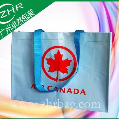 【卓然包装】出口加拿大旅游展博览会广告袋 精美印刷 突出宣传效果 物超所值 彩印手提编织袋