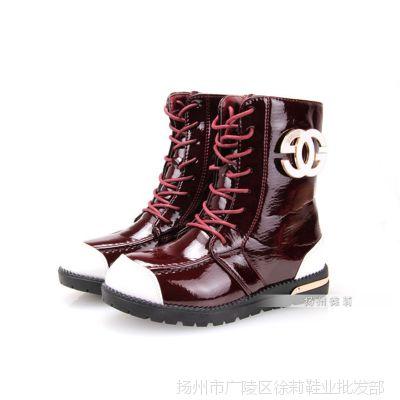 特价处理2014冬款女童皮靴 韩版儿童雪地靴 中筒二棉童鞋批发