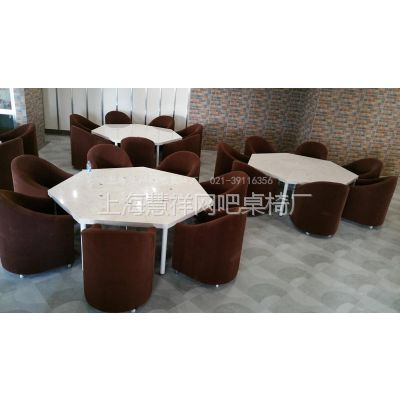 供应上海网吧电脑桌多边形异形网吧台个性桌椅沙发大理石网吧桌椅网咖包间沙发定做