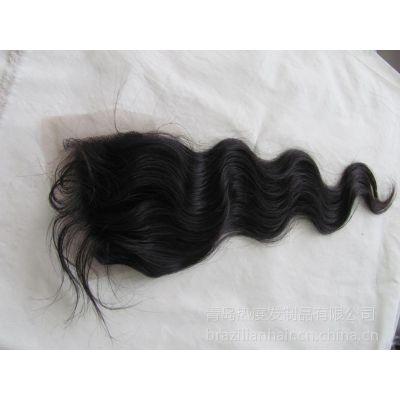 供应全手织蕾丝发块 女士发块 递针发块4X4    3.5X4面积lace closure