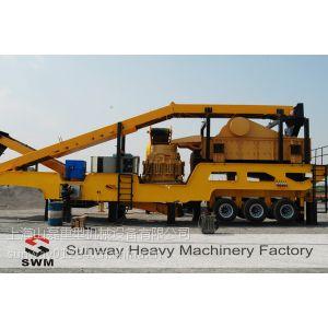 供应重型机械-上海山磊-轮胎式移动破碎站