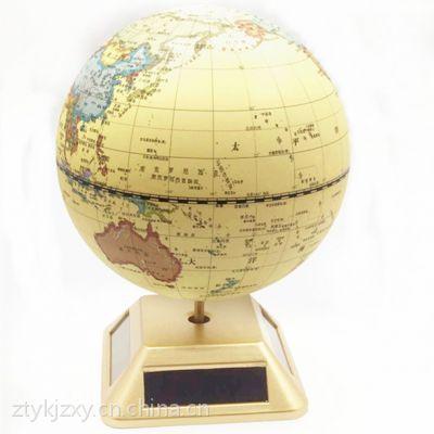 太阳能自动旋转地球仪 地理教材 器材