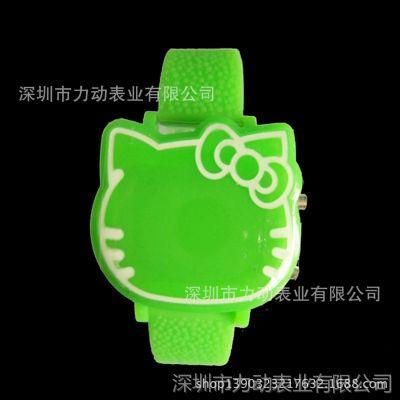 LED电子手表厂供应LED亮红灯儿童卡通手表 适合学生佩戴的手表