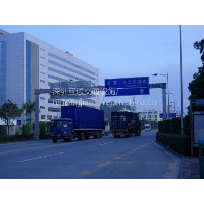 龙门架厂家、高速公路门架、Q235碳素钢龙门架杆件、互通交通标志杆、L型标志杆、路牌杆