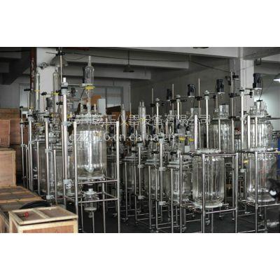 保定中试实验仪器高硼硅玻璃仪器 双层玻璃反应釜100L 化工实验室仪器设备