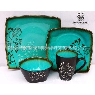 供应厂价直销优质欧式风格冰裂釉餐具,杯子