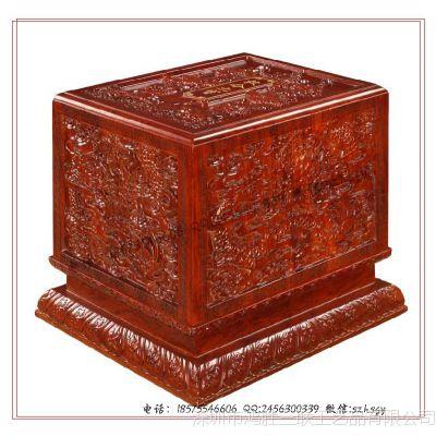 满浮雕红木盒 浮雕红木收藏盒 浮雕红木礼品盒厂家批量生产