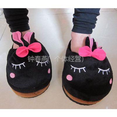 供应卡通棉拖鞋可爱半包跟棉鞋萌鞋保暖居家鞋硬底室内地板拖鞋秋冬季