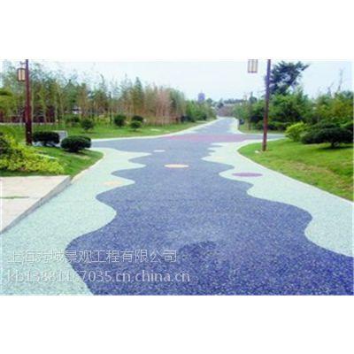 彩色透水混凝土地坪|艺术透水混凝土地坪——秀城景观厂家直销