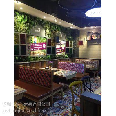深圳厂家直销 西餐椅卡座沙发 咖啡厅卡座 行一家具 古典中式