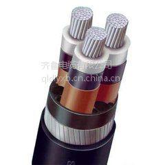 供应齐鲁牌耐火聚乙烯绝缘聚氯乙烯护套粗钢丝阻燃交联无卤电缆WDZN-YJLV42ab