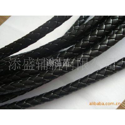 供应PU编织绳,7mmPU皮革编织绳,4股/6股/8股编织圆绳,真皮编织绳